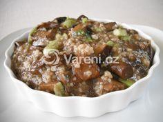Houby dušené s kuskusem recept - Vareni.cz Beef, Food, Meat, Essen, Meals, Yemek, Eten, Steak
