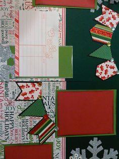Christmas Scrapbook layout kits