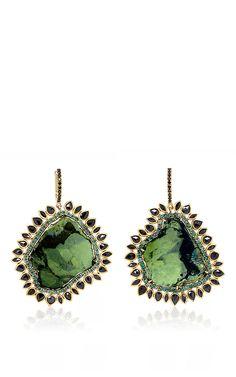 One of a Kind Black Sun Tourmaline Earrings by Natalie Dissel