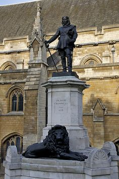 Palace of Westminster - Oliver Cromwell statue