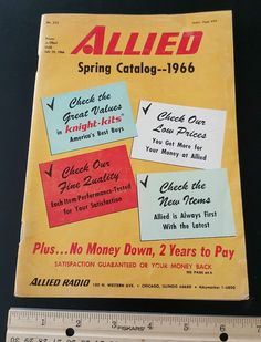 Old 1966 Allied Radio Catalog Spring issue book vintage tape player deck more