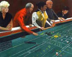 Craps shooting gambling