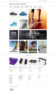 Sport & Fitness Store #Magento #template. #themes #business #responsive #webshop