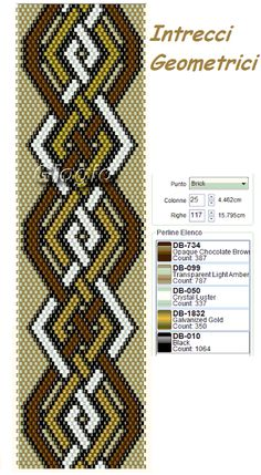 Griglie Geometriche Peyote Stitch Pattern