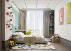 Casinha colorida: Um loft com uma palheta de cores que me deixou boquaiberta