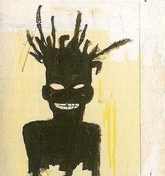 "Beautiful artimportant: ""Jean-Michel Basquiat - self-portrait, Elegant artimportant: ""Jean-Michel Bas. Basquiat Tattoo, Jm Basquiat, Jean Michel Basquiat Art, Sgraffito, Illustrations, Illustration Art, Arte Punk, Art Japonais, Art Brut"