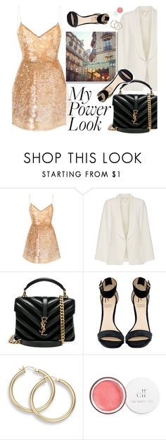 """""""My power look"""" by merima-kopic ❤ liked on Polyvore featuring Monique Lhuillier, Vanessa Bruno, Yves Saint Laurent, Rihanna For River Island, contest, contestentry and MyPowerLook"""