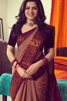 Dashing Maroon Border Kanchipuram Style Silk Saree - CS48