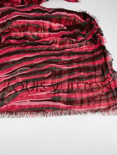 Be fashionable and warm with this fabulous Louis Vuitton Limited Edition Cashmere/Silk Rose Disco Scarf. Not only is this scarf ultra fun it is incredibly stylish with pink, green, fuchsia, and metallic shining throughout.   eBay!