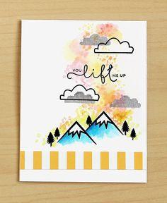 Watercolor card by Lisa Spangler