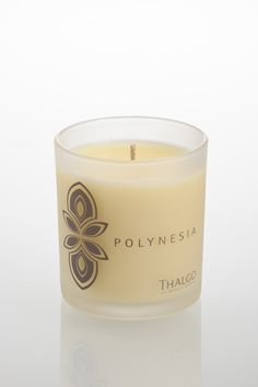 Thalgo Polynesia Candle - A soothing blend of Tahitian Vanilla to fragrance the home and encompass a feeling of total well-being and relaxation, inspired by a Polynesian adventure.