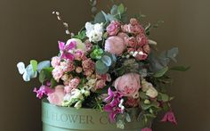 Pastel pink and ivory are classic colours for a Mother's Day bouquet.