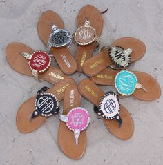 Monogrammed Embroidered Sandals from Marleylilly.com!