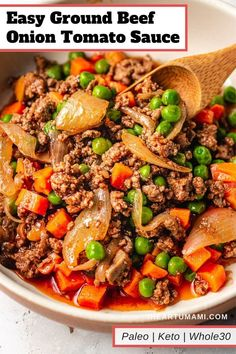 Easy Ground Beef Meal Prep Recipe (Paleo, Easy keto ground beef recipe with zucchini noodles, inspired by beef stroganoff. This Paleo Keto ground beef dish is easy, affordable, and loaded with flavor! Beef Recipe Low Carb, Paleo Recipes, Dinner Recipes, Venison Recipes, Delicious Recipes, Sausage Recipes, Turkey Recipes, Meat Recipes, Crockpot Recipes