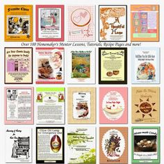 A collection of homemaking resources -- giving away 2 sets.