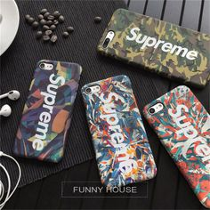 Luminous Case for iphone 7 7plus 6 6plus5.5 Luxury Matte Phone Cover Coque Fundas Capas Fashion tide brand phone cases Supreme