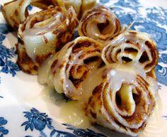 Rita's Recipes: Cinnamon Roll Crepes ~ Swedish Pancakes