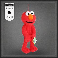 Peluche range pyjama Elmo de la Rue Sésame, housse pyjama