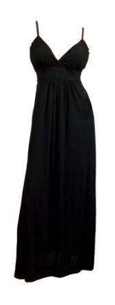Amazon.com: eVogues Sexy Black Cocktail Maxi Dress: Clothing