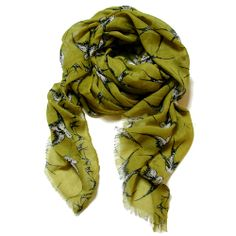 Lightweight Scarf - Lime Green Swallow
