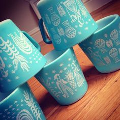 : ~ Pyrex - Butterprint in Turquoise.: ~ Pyrex - Butterprint in Turquoise.