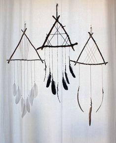 plumes déco attrape rêve idée diy