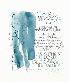 Tryptic Panel 3 - Exaltedx ~::~ Judy Dodds, Penscriptions Calligraphy