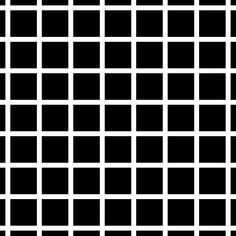 The Herman Grid Illusion. Dark patches appear in the street crossings, except the ones which you are directly looking at. Explanation in source link.