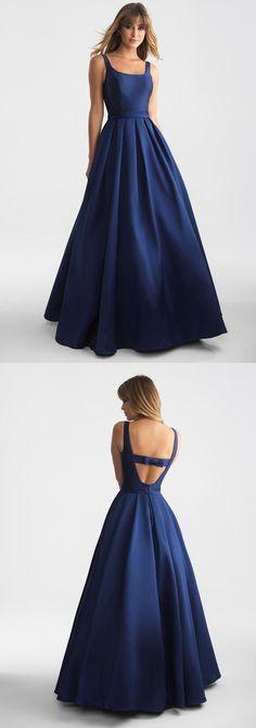 Elegant Navy Blue Long Prom Dress Evening Dress