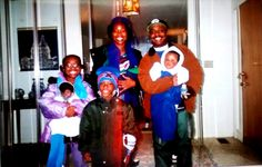 Bailey-Harden connection. Eric and I with children Ebony, Darrien and baby Marcus at his parents home Jean and Roger Bailey in Wilberforce, Ohio. Several years ago. Kids are now two young adults and one teenager of the Bailey crew.