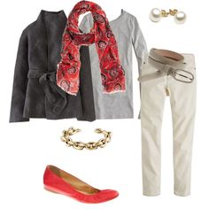 """""""Red and gray"""" by redrobin21 on Polyvore"""