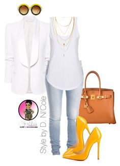 Untitled #2617 by stylebydnicole on Polyvore featuring Agent Ninetynine, MANGO, Christian Louboutin, Hermès, Forever 21 and Natalie B