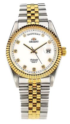 Buy ORIENT President Classic Automatic Sapphire Watch Two Tone Gold EV0J002W online at Lazada malaysia. Discount prices and promotional sale on all Casual. Free Shipping. Rolex Watches, Watches For Men, Affordable Watches, Sapphire, Free Shipping, Classic, Casual, Gold, Stuff To Buy