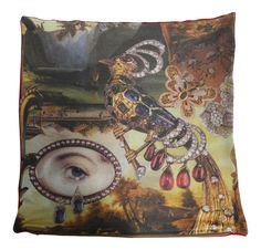 This is a luxury cushion that shows part of the famous story The Nightingale by Hans Christian Andersen Hans Christian, Cushion Pillow, Pillows, Cushions For Sale, Luxury Cushions, Nightingale, Buy Art, Digital Prints, Fairy Tales