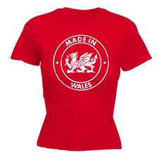 123t USA Women's Made In Wales Funny T-Shirt