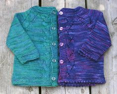 Sunnyside Baby Sweaters by Tanis Lavallee. Free pattern on Ravelry