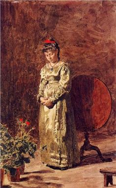 Young Girl Meditating - Thomas Eakins
