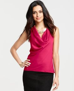 Ann Taylor - AT Blouses Tops - Cowl Neck Halter
