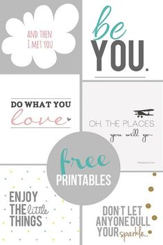 Home Coming: Inspirational Free Printables