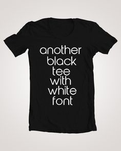#SALE Another Black Tee- T-Shirt (Men's & Women's), $15.00 | www.crumbledthoughts.com/shop