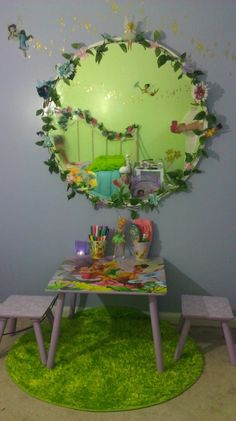 Image detail for -Tinkerbell room, Did my daughter room in tinkerbell first room… Fairytale Bedroom, Fairy Bedroom, Garden Bedroom, Bedroom Green, Girls Bedroom, Bedroom Ideas, Tinker Bell Room, Princess Room, Daughters Room