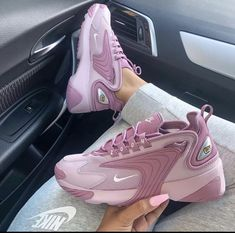"Nike Zoom ""Plum Chalk"" Link in organic - one of the hottest chunky sneakers of all . Nike Zoom, Cute Sneakers, Shoes Sneakers, Women's Shoes, Chunky Sneakers, Shoes Nike Adidas, Retro Nike Shoes, Colorful Nike Shoes, Nike Retro"