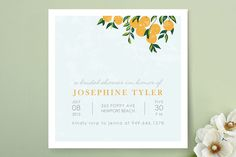 Orange Tree Bridal Shower Invitations by Monica Schafer at minted.com i just like this one.  i know oranges/tennessee/fall don't make sense