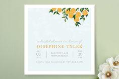 Orange Tree Bridal Shower Invitations by Monica Schafer at minted.com