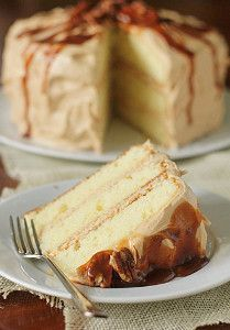 Classic Caramel Layer Cake - The caramel frosting recipe is light, fluffy, and the perfect complement to the layers of basic buttermilk cake.