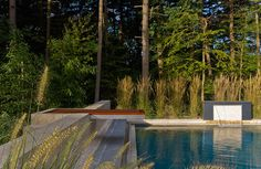 Sudbury Design Group - New England Home Magazine Outdoor Rooms, Outdoor Gardens, Outdoor Decor, Pool Coping, Concrete Pool, New England Homes, Country Estate, Contemporary Landscape, House And Home Magazine
