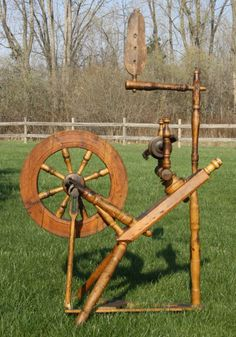 Antique Country Primitive Spinning Wheels by CountrysideAntiques, $175.00