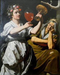 Abraham Janssens - Allegory of Joy and Melancholy