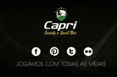 Confira todas as mídias do Capri Society e Sport Bar: Twiter: https://twitter.com/CapriSociety Facebook: https://www.facebook.com/caprifutebolsociety/photos/pb.572725039460649.-2207520000.1407329164./659654810767671/?type=3&theater Flickr: https://www.flickr.com/photos/125131642@N05/