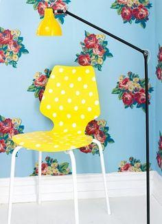 Amarelo, azul, poá... Adoro!